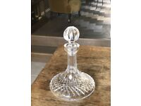 Waterford hand cut crystal glass wine / whisky decanter