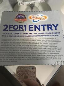 241 Alton towers/Thorpe Park voucher