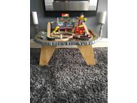 Wooden train/ construction table