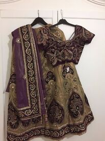 Gorgeous Indian traditional Wedding Dress - £100 only - UK 10-12