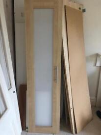 Pair of Ikea anebode wardrobe doors.