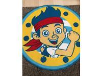 Jake the pirate circular rug
