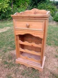 Old pine wine rack