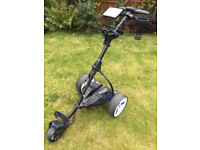 Motocaddy S3 Pro Electric Trolley including Lithium 18hole battery. Hardly used. Bottle holder.