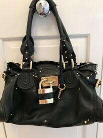 Genuine Chloe Paddington Black leather handbag