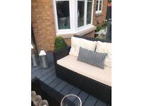 Beautiful Black Outdoor Garden Furniture in good condition.