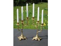 Very pretty pair of unusual vintage French candlesticks(A3)