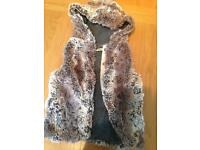 9-12 months fluffy gilet by next