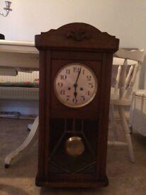 Antique hall clock. Stunning.