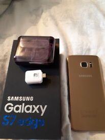 SAMSUNG GALAXY S7 EDGE....GOLD. EXCELLENT CONDITION USB/ EARPHONES INC