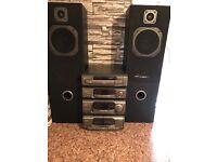 Technics stero and wharfeda speakers