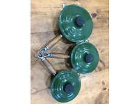 Le Cruset cast-iron enamelled saucepan set