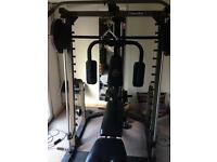 Smith machine multi gym with accessories