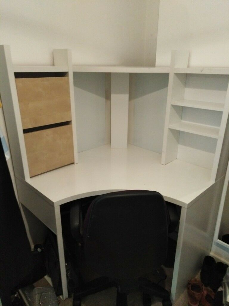Ikea Micke Corner Desk White And Office Chair In Knowle West Midlands Gumtree