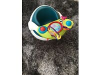 Mamas and papas snug seat in teal with toy tray