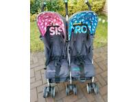 Cosatto double stroller Sis and Bro