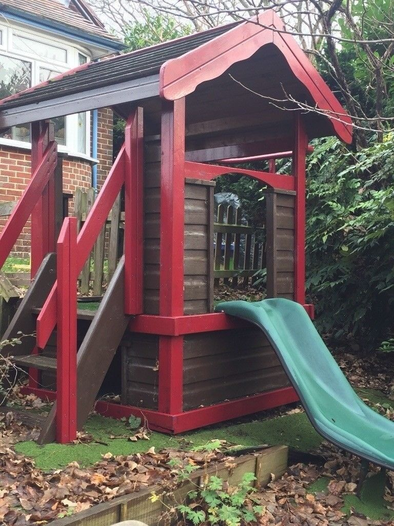 Outdoor Gym Slide Firemans Pole Wooden Activity Play Centre In Poole Dorset Gumtree