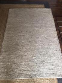 Pure wool knit rug