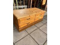Pine chest of drawers W124 D60 H50 cm dovetail joints excellent condition .