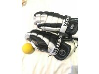 Lacrosse Gloves and Ball