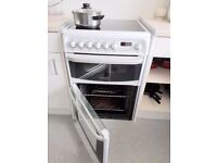 *BARGAIN* Hotpoint CH60EKWS 60cm Wide Double Oven Electric Cooker With Ceramic Hob White CH60EKWS
