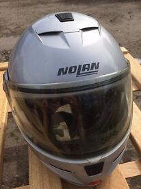 Full Faced Nolan Helmet - Flip Up Front N-com. Size M. (see Photos For Specs)