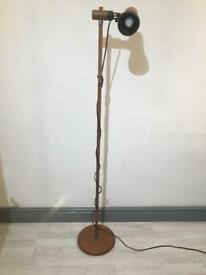 Vintage freestanding spotlight wooden