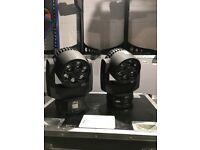 4X Chauvet Intimidator Trio Wash/Beam Moving Head Lighting Effect