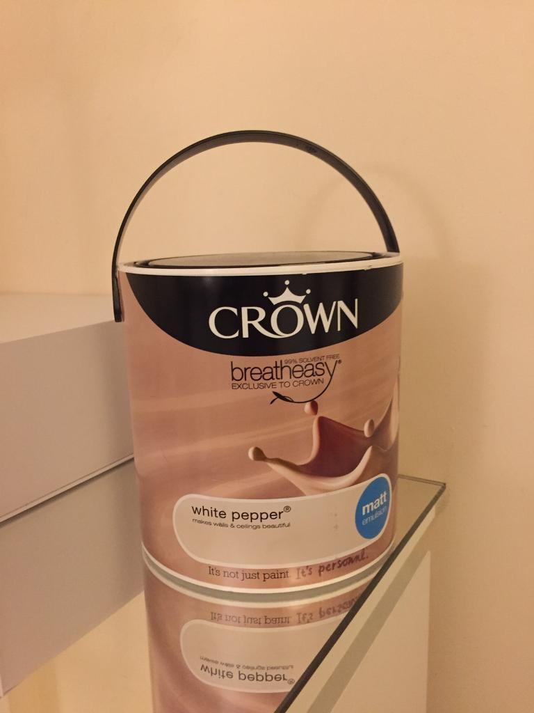 CROWN Paint - 2.5L Full Can 'White Pepper'