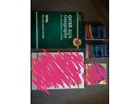 GCSE REVISION BOOK for geography and DICTIONARY AND THESAURUS