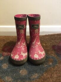 USED girls joules wellies