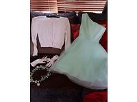 Gala Day / Flower Girl Dress / Age 10 / Mint Green
