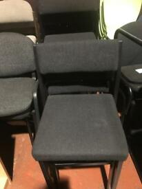Black Stackable Square Chairs
