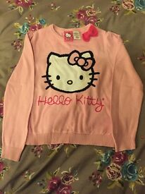 Hello kitty girls pink jumper age 6 years.