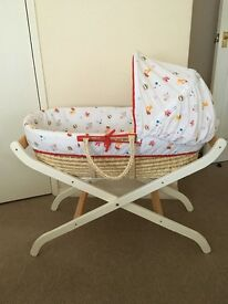 Baby Moses Basket with stand Mothercare Only Pick-up