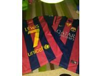 Lewis 7 Barcelona shirts x 2