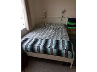 URGENT, IKEA bed NESTTUN King Size + 1 matress HOVAG king, TWICKENHAM