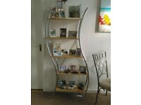 Tall Open Shop Office, Shelf Display Unit, Stand, Unusual Double Curved Sides