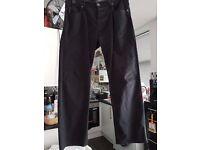 Armani black jeans/trousers 34 waist