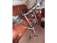HALFORDS 3 BIKE REAR MOUNTED CYCLE CARRIER UNIVERSAL FITTING UNUSED NO BOX