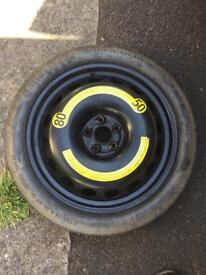 Space saver steel wheel - 125/70 R18 - STILL AVAILABLE - wookey near wells in Somerset
