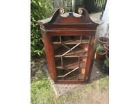 "Antique Georgian corner cabinet £25 43"" high, 26"" wide and 16"" deep"