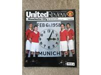 Manchester United vs Manchester City Munich 50th Anniversary Official Matchday Programme