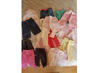 3-6 baby girls trousers bundle 1