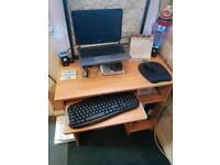 Compact home office workstation/desk