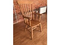 Solid wood grandad chair/carver chair