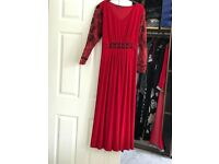 Maxi Dresses long size 20 worn only once One in red and one in black take a look at my other picture