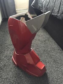 Iron man suit right arm and left boot only