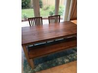 Immaculate Ikea dining table Kejsarkrona with 2 chairs and bench