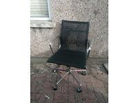 Chrome Mesh Office Chair w/ tilt and height adjust - £30 OBO